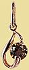 Подвеска золотая с раух топазом