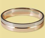 Обручальное кольцо диффузийное двухсплавное красно-белое 6КД140001
