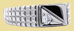 Перстень мужской из серебра с фианитами KS-1012