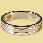 Обручальное кольцо диффузийное жёлто-белое 0КД150004