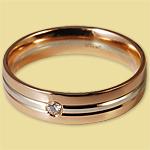 Обручальное кольцо диффузийное красно-белое 6КД250118