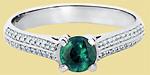 Кольцо из платины с изумрудом ПК-032И-01