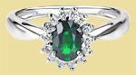 Кольцо из платины с изумрудом ПК-038И-01