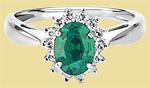 Кольцо из платины с изумрудом ПК-038И-02