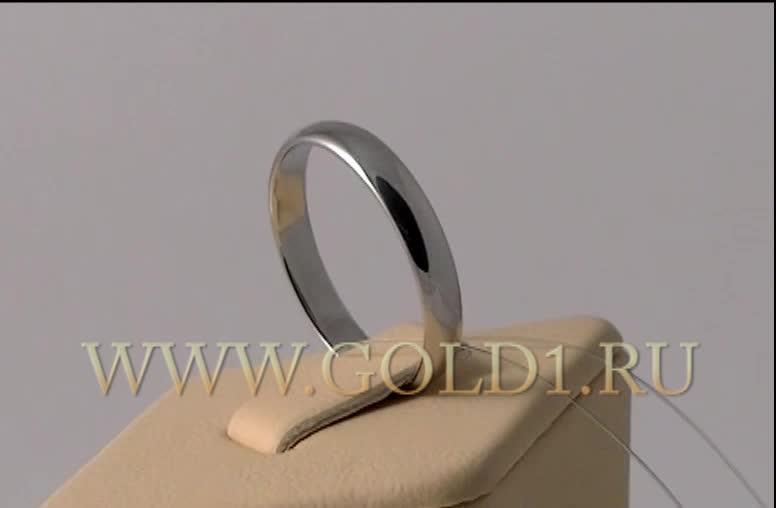 1ea17cf8a533 Видео Обручальное кольцо из платины 4 мм классика ПК-104-00